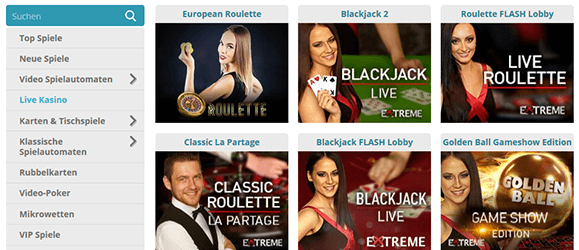 Cozyno Casino Livespiele