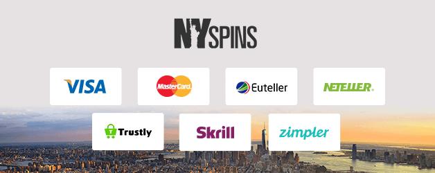 NYspins Casino Zahlungsmethoden