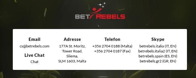 BetRebels Casino Support