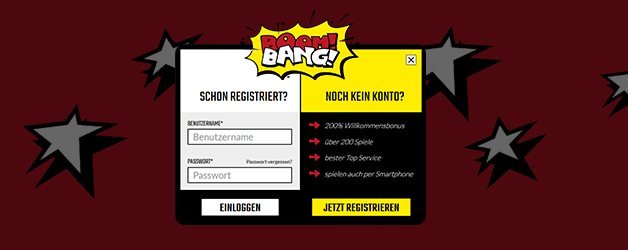 Boom Bang Casino Registrierung