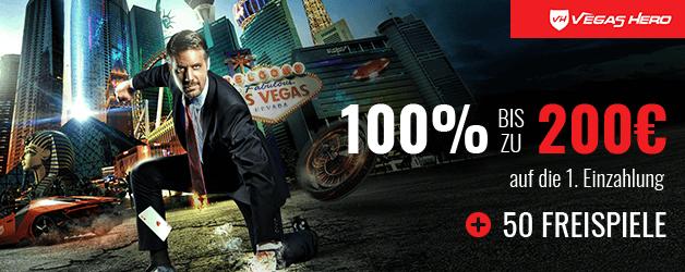 Vegas Hero Casino Bonus 1. Einzahlung