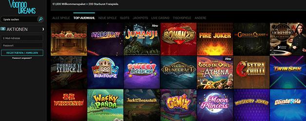 VoodooDreams Casino Spiele