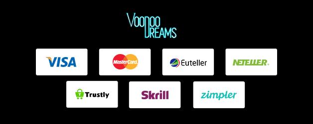 VoodooDreams Casino Zahlungsmöglichkeiten
