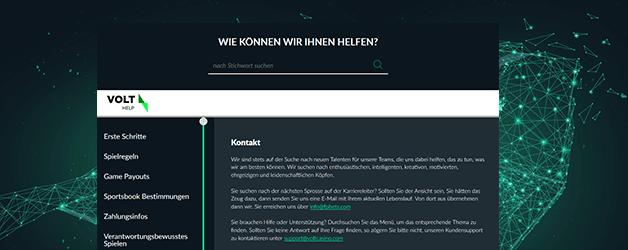 Volt Casino Kundenservice - Deutschsprachiger Live Chat rund um die Uhr