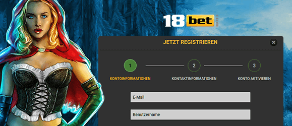 18bet Casino Registrierung