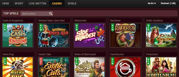 18bet Casino Spiele