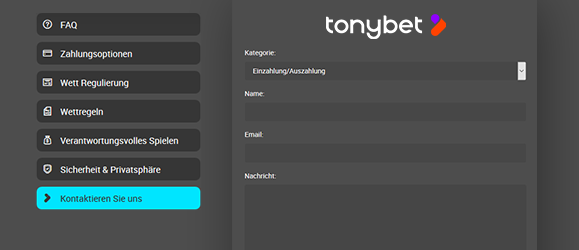 Tonybet Casino Support