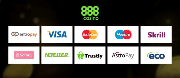 888 Casino Zahlungsmethoden