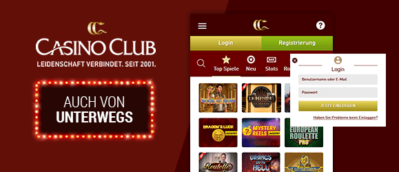 CasinoClub Mobile App
