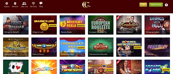 CasinoClub Spieleangebot