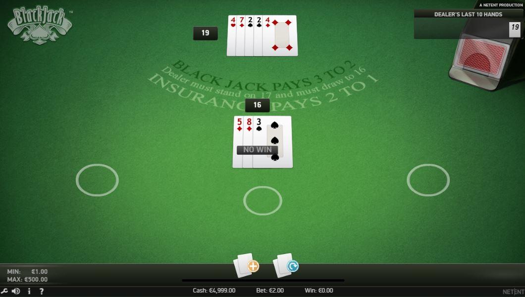 Blackjack kostenlos testen