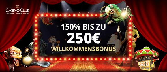 Casino Club Bonus Banner neu