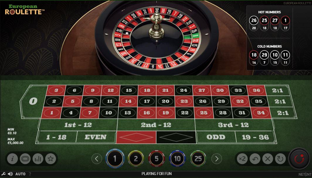 europ. Roulette kostenlos testen