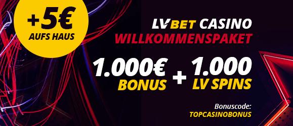 LV BET Casino Bonus 1000