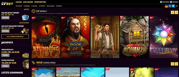 LV BET Casino Spiele