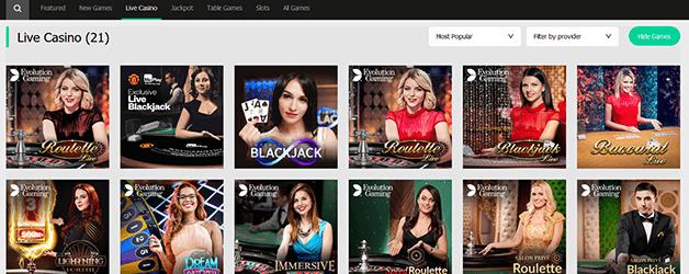MoPlay Casino Live Casino