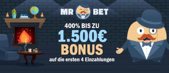 MRBet Casino Bonus 1500