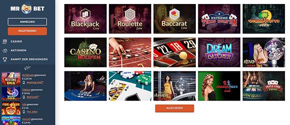 MrBet Casino Livecasino
