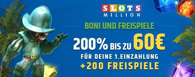 SlotsMillion Casino Bonus 200