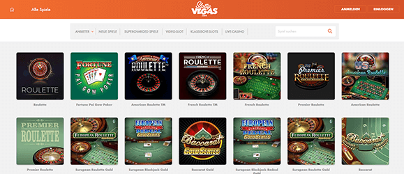 Slotty Vegas Casino Livecasino