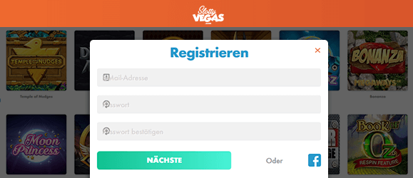 Slotty Vegas Casino Registrierung