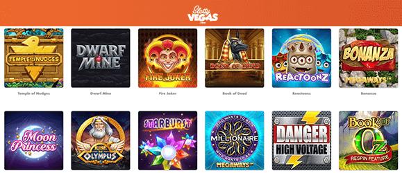 Slotty Vegas Casino Spieleauswahl
