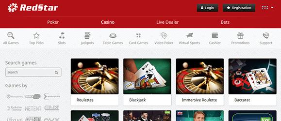 Redstar Casino Livecasino