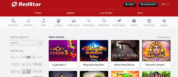 Redstar Casino Spiele