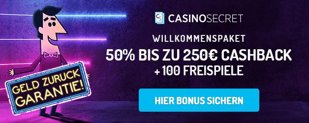 50% Bonus bis 250 Euro + 100 Freispiele