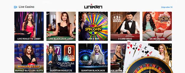 Das UNIKRN Live-Casino ist ein echtes Erlebnis.
