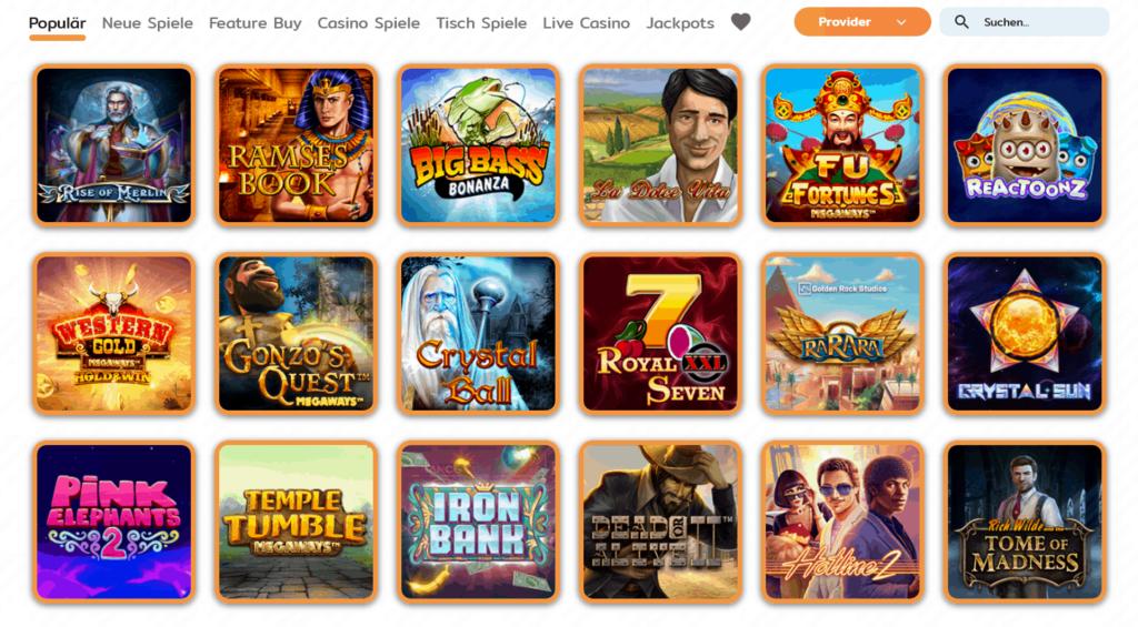 Cashimashi Casino Spiele