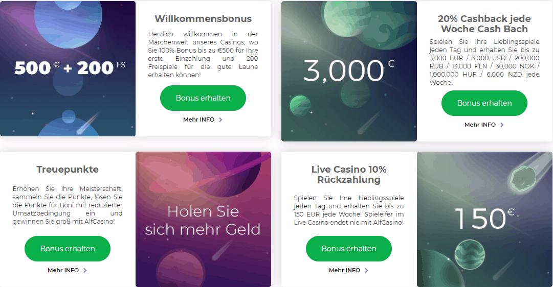 Alf Casino Bonus Code