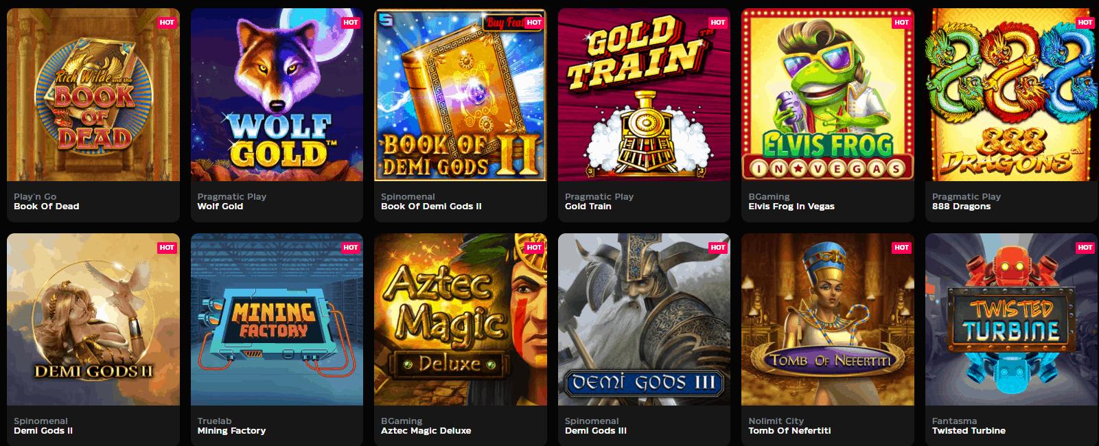 Casinobuck Spieleangebot
