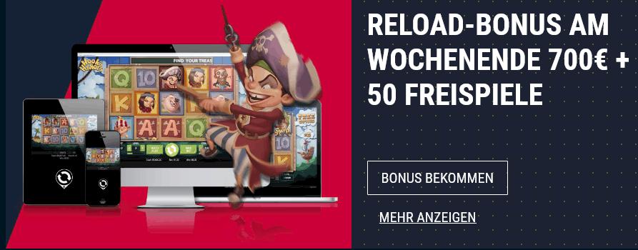 Rabona Casino Reload Bonus