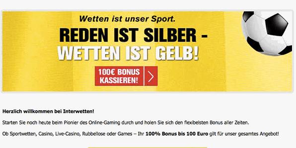 Interwetten Esport Bonus Code