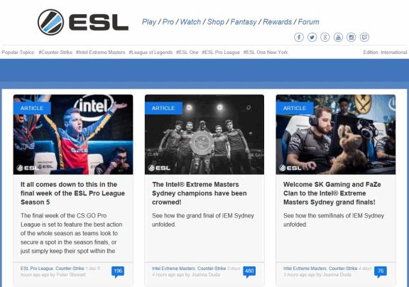 ESL CS:GO News