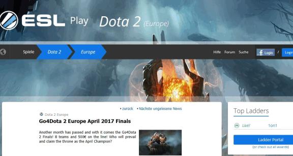 ESL Dota 2 News