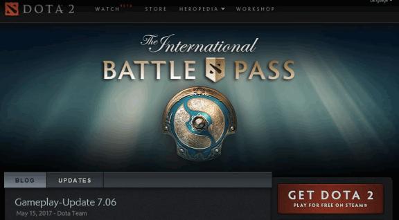 Valve Homepage Dota 2