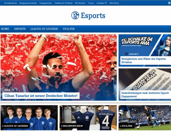 Schalke 04 Esport Homepage