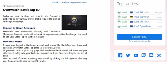 ESL Overwatch News