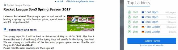 ESL Rocket League News