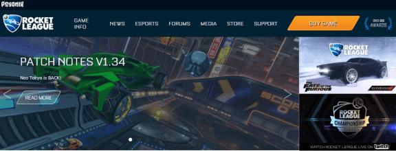 Psyonix Homepage Rocket League