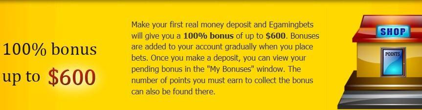 Neukundenbonus 600 USD EGB.com