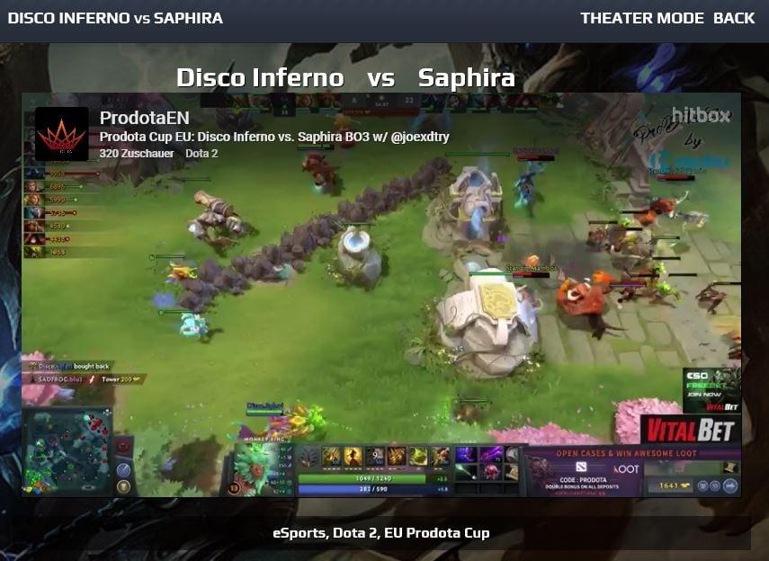 Livestream-Angebot von gg.bet