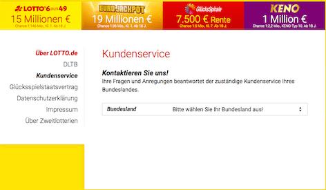 Kundenservice Lotto.de