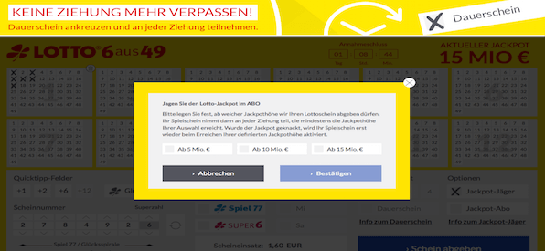 Jackpot-Abo Lotto24.de