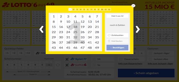 Tippabgabe Lotto24.de