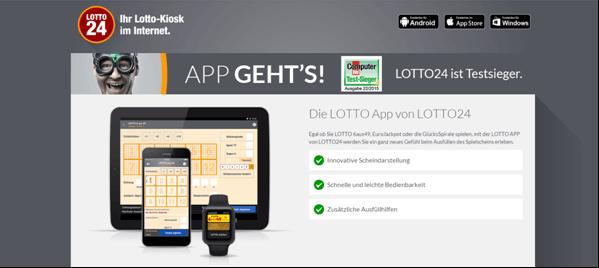 Die Lotto-App von Lotto24