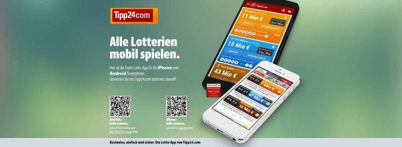 Die Lotto-App von Tipp24