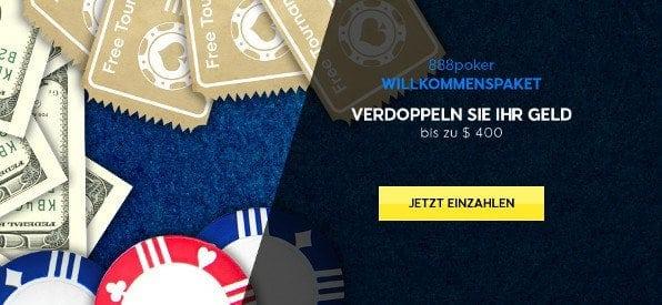 Einzahlungsbonus von 888 Poker